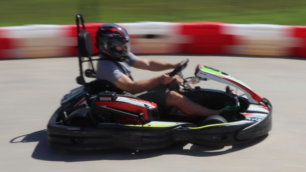 Action shot in ProTrack Go-Kart